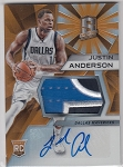 2015-16 Spectra Justin Anderson rookie Orange refractor 3 color Patch / Auto rc 01/25