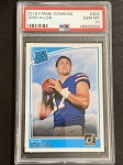 2018 Panini Donruss Josh Allen Rated Rookie PSA 10 GEM MINT