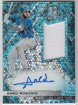2018 Panini Spectra Jersey Autographs Neon Blue Amed Rosario Auto /99