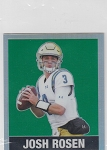 2018 Leaf National 1948 Throwback Green refractor rc #18 Josh Rosen /5