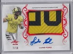 2017 Leaf Army All American Luke Ford RED parallel Patch / auto rc /10