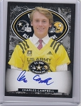 2017 Leaf Army All American Charles Campbell black parallel on card Auto /15