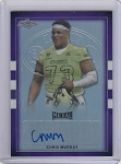 2017 Leaf Army All American Chris Murray Purple Refractor Auto /25