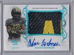 2017 Leaf Army All American Adam Anderson Blue parallel Patch / auto rc /15