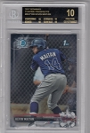 2017 Bowman Chrome Kevin Maitan prospect rc BGS 10 Black Label