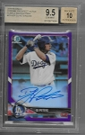 2018 Bowman Chrome DJ Peters Purple refractor Auto /250 BGS 9.5 GEM MINT