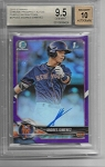 2018 Bowman Chrome Andres Jimenez purple Auto /250 BGS 9.5 Gem Mint