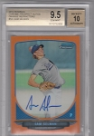 2013 Bowman Chrome Sam Selman prospect Orange Refractor auto rc/25 BGS 9.5 Gem