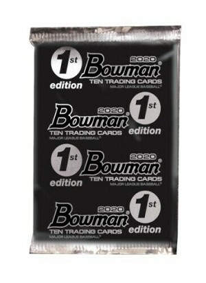 2020 Bowman First Edition Packs. 3- PACK LOT    Very LImited run.  First Look at Jasson Dominguez 1st Bowman Cards  ON FIRE!!  in stock will ship daily