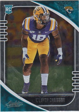 2020 Panini Absolute K'Lavon Chaisson rookie rc