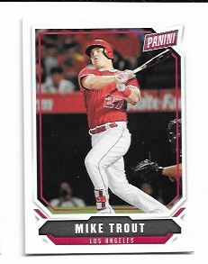 2018 Panini National Mike Trout card