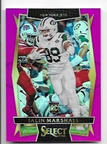 2016 Panini Select Jalin Marshall rookie Pink Refractor rc /15