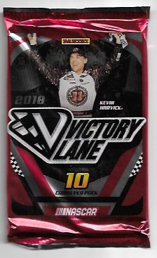 2018 Panini Victory Lane 10 Card Pack .  1 auto or relic per pack