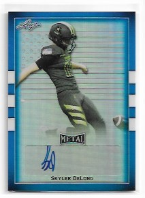 2018 Leaf Army All American Skyler DeLong Blue Flag Refractor Auto /10