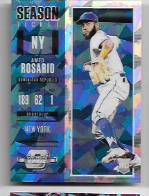2018 Panini COntenders optic Amed Rosario Rookie Blue Ice rc /149
