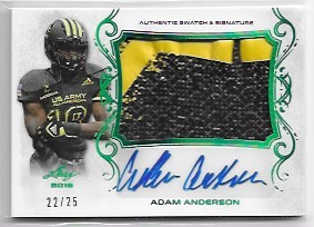 2018 Leaf Army All American Adam Anderson Patch / Auto /25