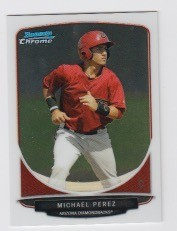 2013 Bowman Chrome Mini Michael Perez Card