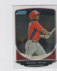 2013 Bowman Chrome Mini Michael Taylor Card