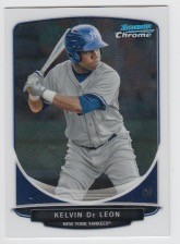 2013 Bowman Chrome Mini Kelvin De Leon Card