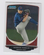 2013 Bowman Chrome Mini Derrick Penilla Card