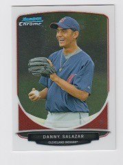 2013 Bowman Chrome Mini Danny Salazar Card