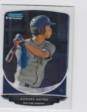 2013 Bowman Chrome Mini Gosuke Katoh Card