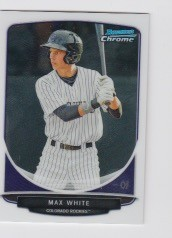 2013 Bowman Chrome Mini Max White Card