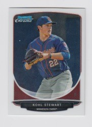 2013 Bowman Chrome Mini Kohl Stewart Card