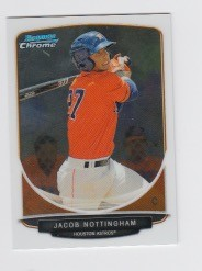 2013 Bowman Chrome Mini Jacob Nottingham Card