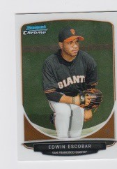 2013 Bowman Chrome Mini Edwin Escobar Card
