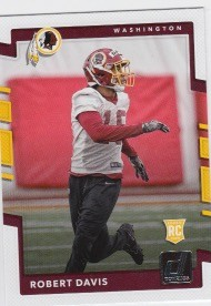 2017 Panini Donruss Football Robert Davis Card