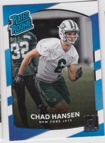 2017 Panini Donruss Football Chad Hansen Card