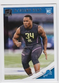 2018 Donruss Rookie Da'Shawn Hand Card
