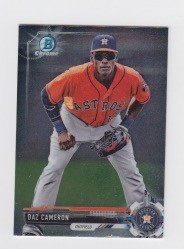 2017 Bowman Chrome Mini Prospect RC Daz Cameron Card
