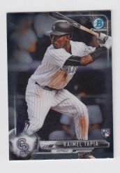 2017 Bowman Chrome Mini Prospect RC Raimel Tapia Card