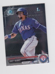 2017 Bowman Chrome Mini Prospect RC Andy Ibanez Card