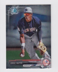 2017 Bowman Chrome Mini Prospect RC Jorge Mateo Card
