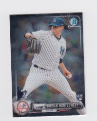 2017 Bowman Chrome Mini Prospect RC Jordan Montgomery Card