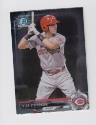 2017 Bowman Chrome Mini Prospect RC Tyler Stephenson Card