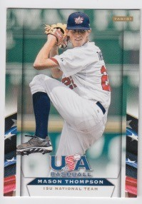 2013 Panini USA Baseball Mason Thompson Card