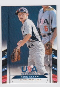 2013 Panini USA Baseball Nick Allen Card