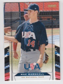 2013 Panini USA Baseball Mac Marshall Card