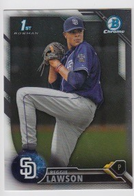 2016 Bowman Chrome Reggie Lawson Prospect Rookie Card