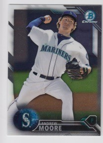 2016 Bowman Chrome Andrew Moore Prospect Rookie Card