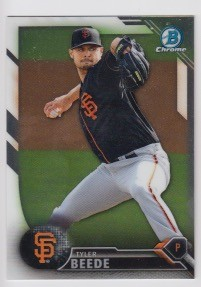 2016 Bowman Chrome Tyler Beede Prospect Rookie Card