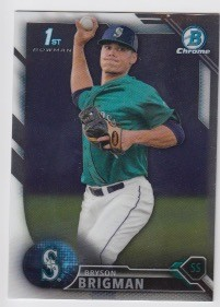 2016 Bowman Chrome Bryson Brigman Prospect Rookie Card