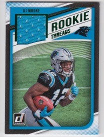 2018 Donruss DJ Moore Green parallel Rookie JERSEY rc