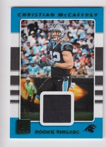 2017 Panini donruss Christian McCaffrey rookie Green parallel jersey rc
