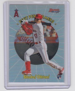 2018 Bowman's Best Shohei Ohtani Best Performers refractor rc