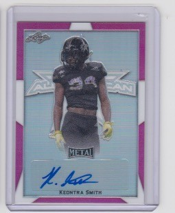 2019 Leaf Army All American Keontra Smith Pink Refractor Auto /10